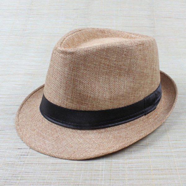 Hot Unisex Hat Women Hat Men Gangster Summer Beach Cap Hard Felt Fedora Trilby Panama Jazz Gangster Hats 2