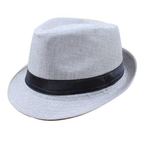 Hot Unisex Hat Women Hat Men Gangster Summer Beach Cap Hard Felt Fedora Trilby Panama Jazz Gangster Hats 26