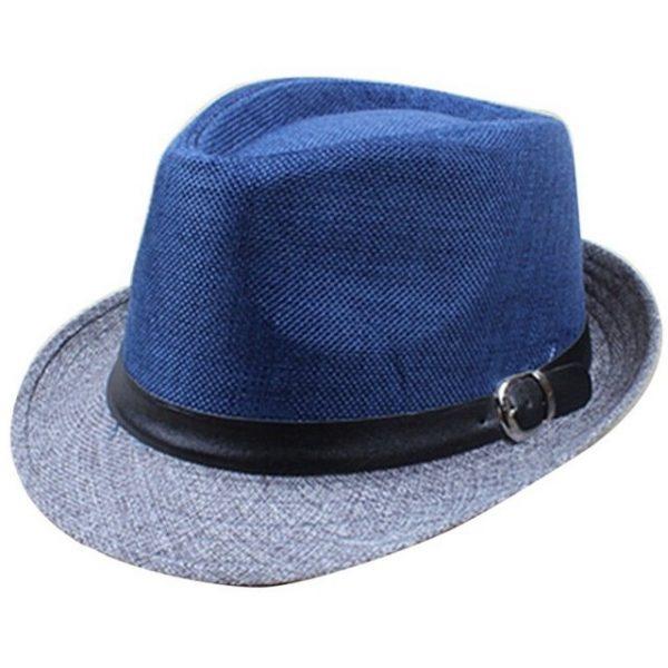 Hot Unisex Hat Women Hat Men Gangster Summer Beach Cap Hard Felt Fedora Trilby Panama Jazz Gangster Hats 28