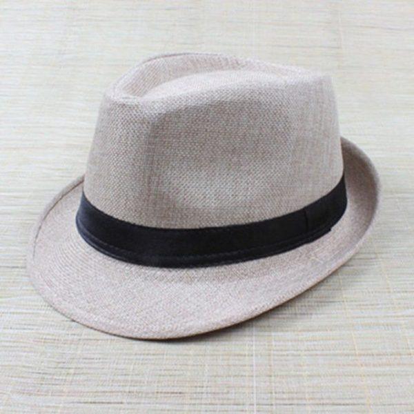 Hot Unisex Hat Women Hat Men Gangster Summer Beach Cap Hard Felt Fedora Trilby Panama Jazz Gangster Hats 30