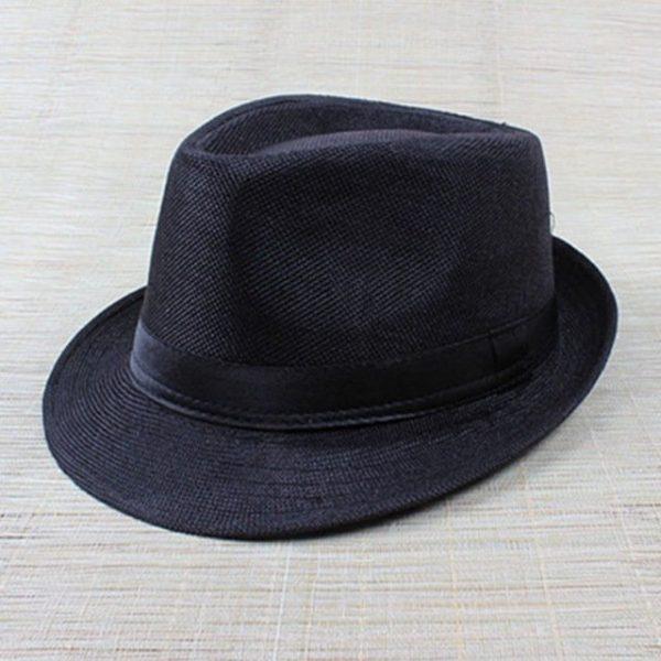 Hot Unisex Hat Women Hat Men Gangster Summer Beach Cap Hard Felt Fedora Trilby Panama Jazz Gangster Hats 12