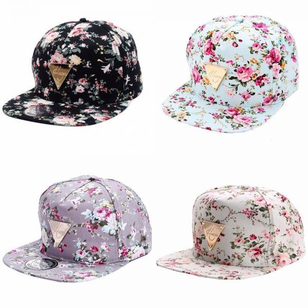 Men Women Baseball Cap Hip Hop Caps Floral Style 4