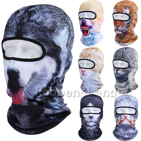 New 3D Animal Cat Dog Full Face Mask Winter Warmer 4