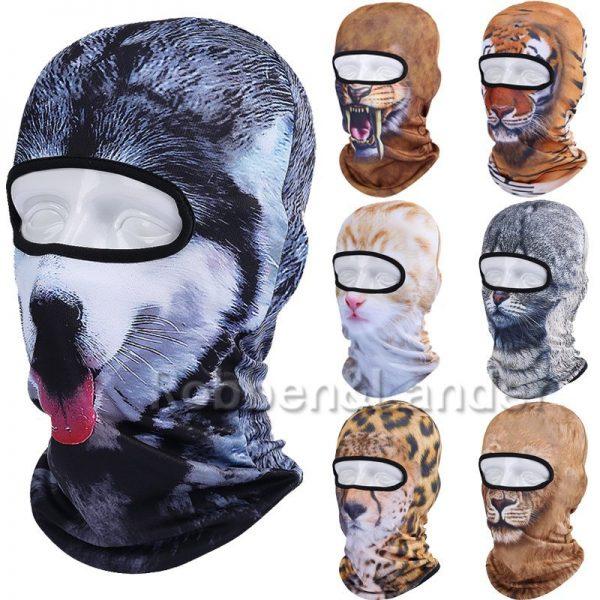 New 3D Animal Cat Dog Full Face Mask Winter Warmer 3