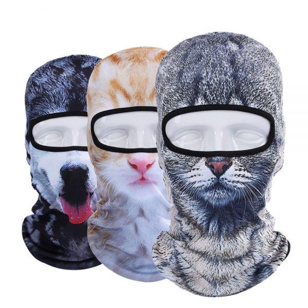 New 3D Animal Cat Dog Full Face Mask Winter Warmer 1