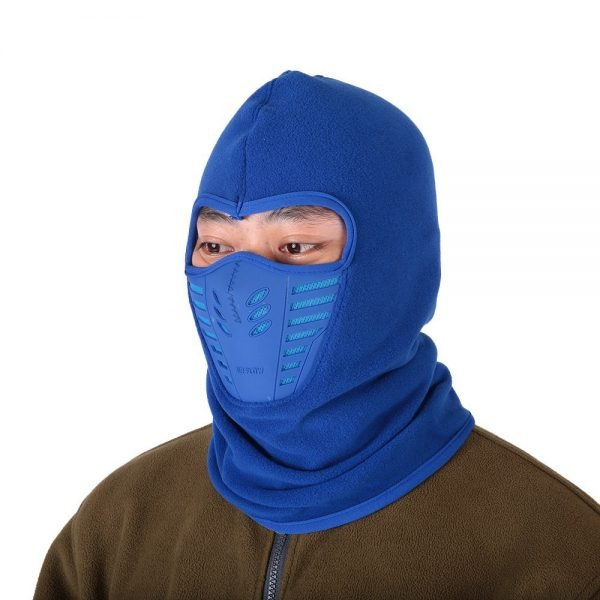 Winter Fleece Warm Hat Motorcycle Windproof Face Mask Hat Neck Helmet Beanies Unisex Bicycle Thermal Fleece Balaclava Hat 4