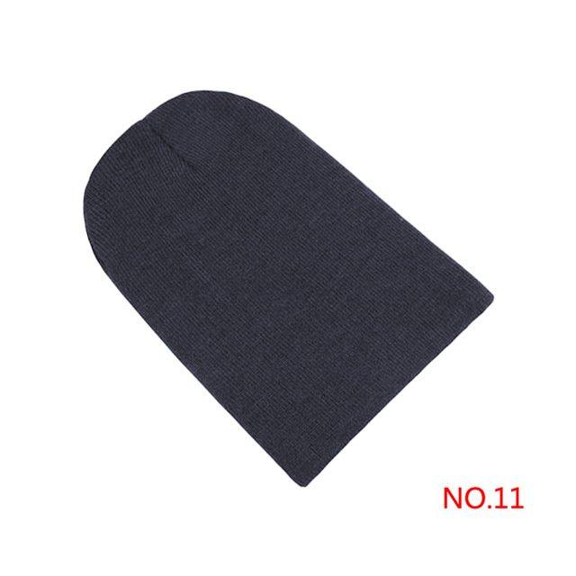 Winter Warm Hats Unisex Knitting Women Men Wool 33