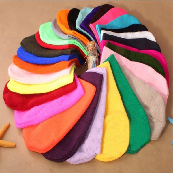 Winter Warm Hats Unisex Knitting Women Men Wool 4