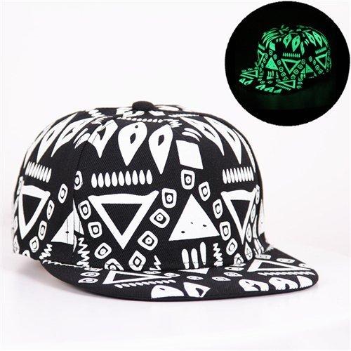 Baseball Cap Hip Hop Fluorescent Light Snapback Caps - Luminous Hat 16