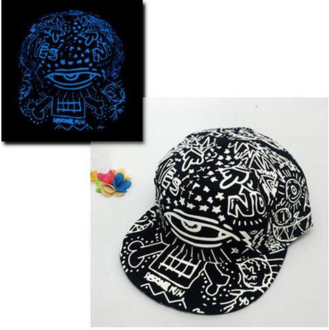 Baseball Cap Hip Hop Fluorescent Light Snapback Caps - Luminous Hat 42