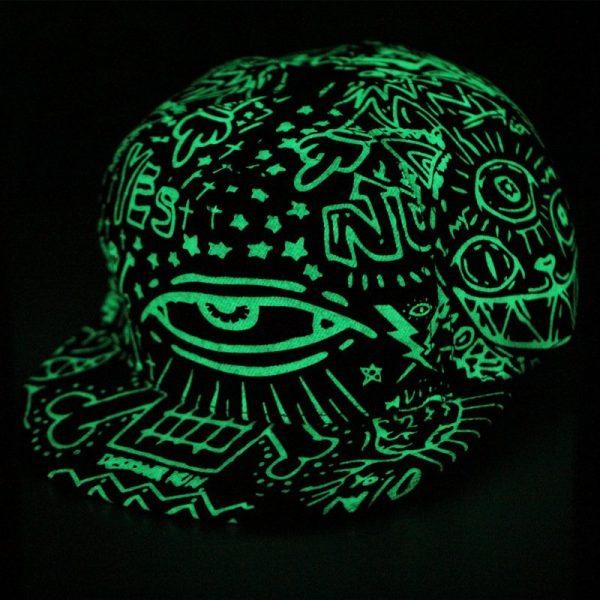 Baseball Cap Hip Hop Fluorescent Light Snapback Caps - Luminous Hat 8
