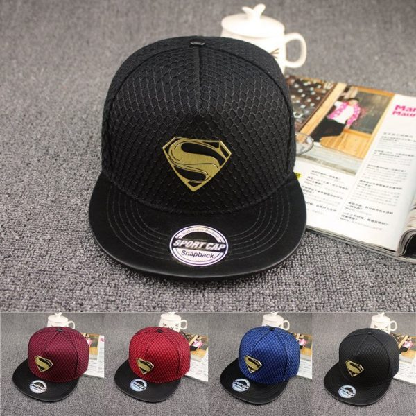 New Fashion Summer Brand Superman Baseball Cap Hat For Men WomenTeens Casual Bone Hip Hop Snapback Caps Sun Hats 2