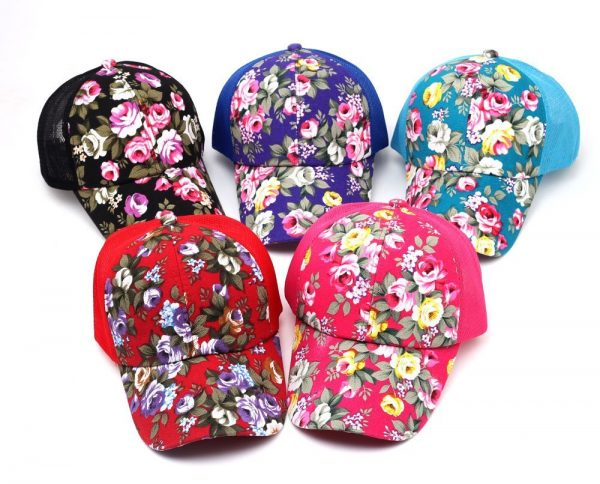 hot sale female floral baseball hat for women spring and summer casual cap girls sun snapback hats for sport l leisure 4