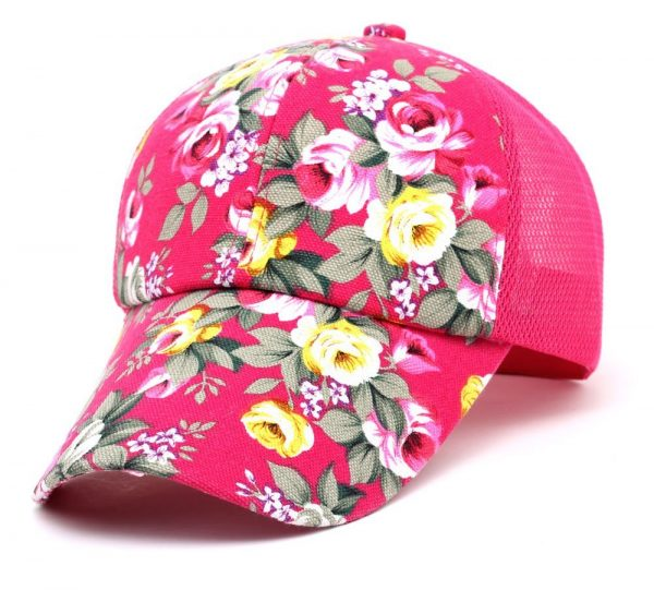 hot sale female floral baseball hat for women spring and summer casual cap girls sun snapback hats for sport l leisure 6