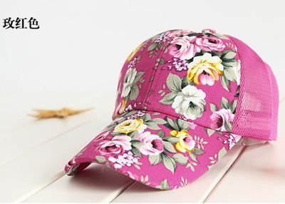 hot sale female floral baseball hat for women spring and summer casual cap girls sun snapback hats for sport l leisure 18
