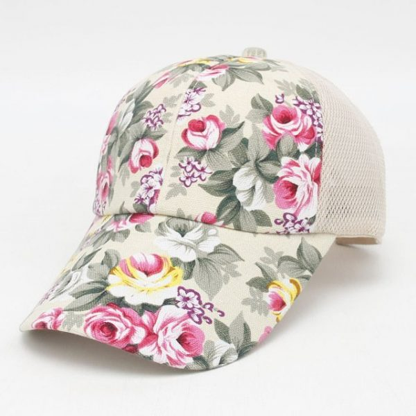 hot sale female floral baseball hat for women spring and summer casual cap girls sun snapback hats for sport l leisure 24