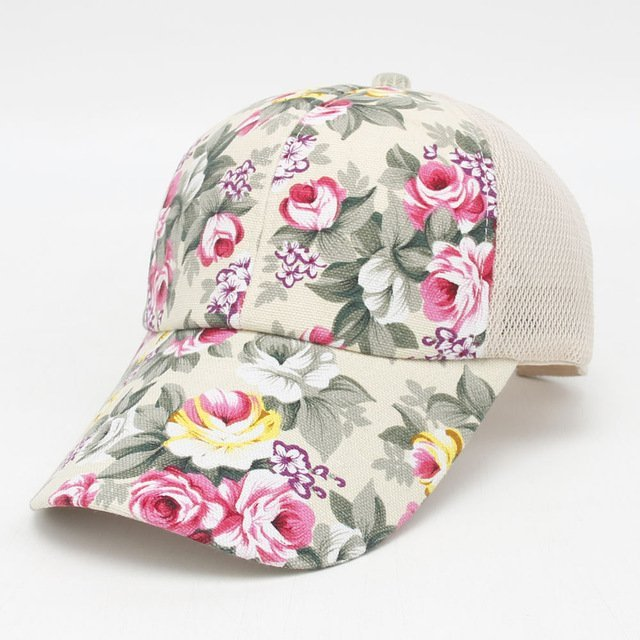 hot sale female floral baseball hat for women spring and summer casual cap girls  sun snapback hats for sport l leisure 23