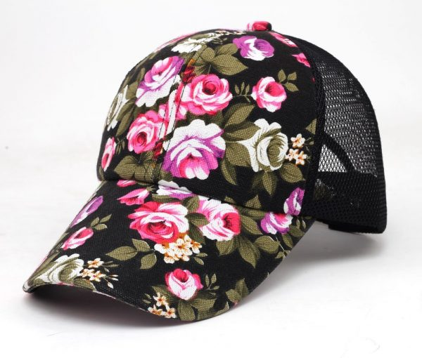 hot sale female floral baseball hat for women spring and summer casual cap girls sun snapback hats for sport l leisure 2