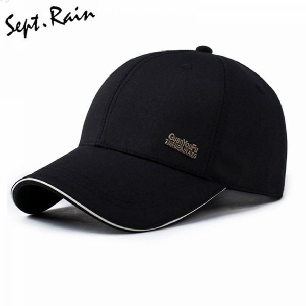 Mens Spring Adjustable Cotton Fitted Baseball Caps Male Simple Black Formal Snapback Dad Hat Fashion Breathable Truck Hats 2