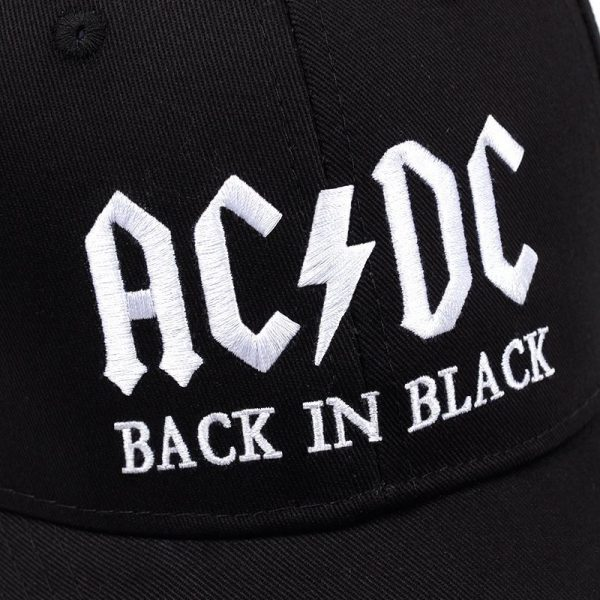 New AC/DC band baseball cap rock hip hop cap Mens acdc snapback hat Embroidery Letter Casual DJ ROCK dad hat 12