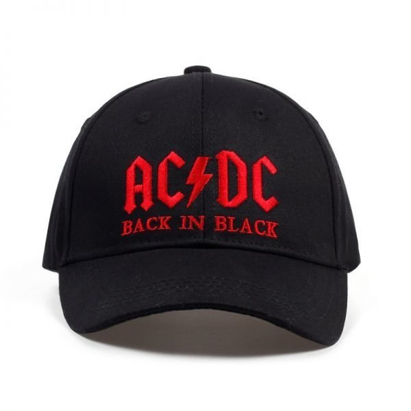 New AC/DC band baseball cap rock hip hop cap Mens acdc snapback hat Embroidery Letter Casual DJ ROCK dad hat 2