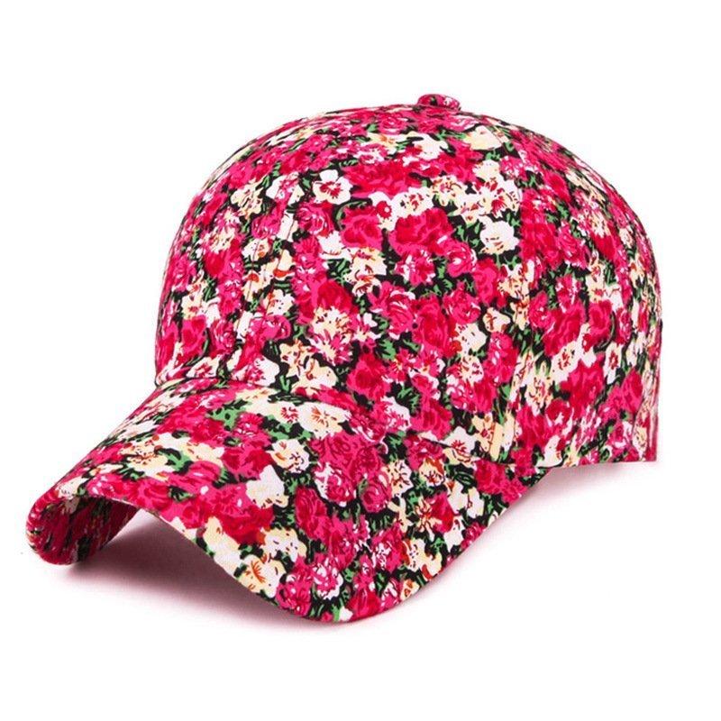 2017 Samll Floral Baseball Cap For Women Summer Beach Fashion Sun hat - Cap  shop  1bcc0b44f89