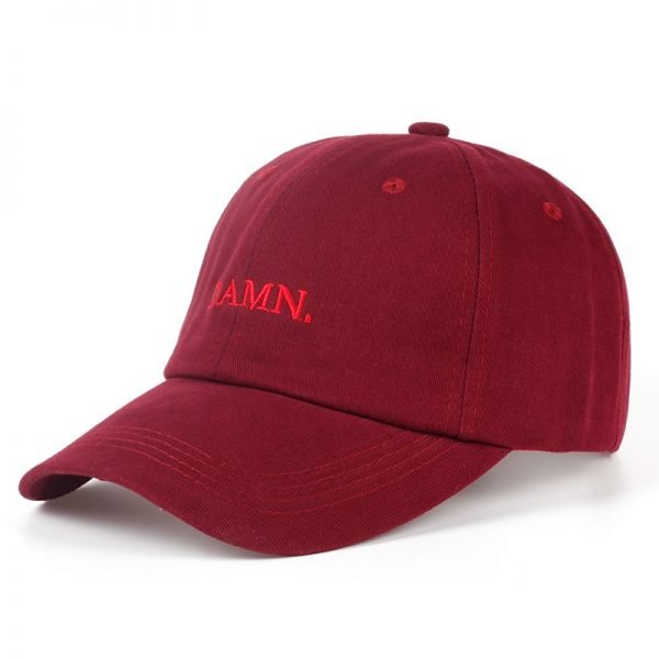 new wine red kendrick lamar damn cap embroidery DAMN. unstructured dad hat bone women men the rapper baseball cap 8