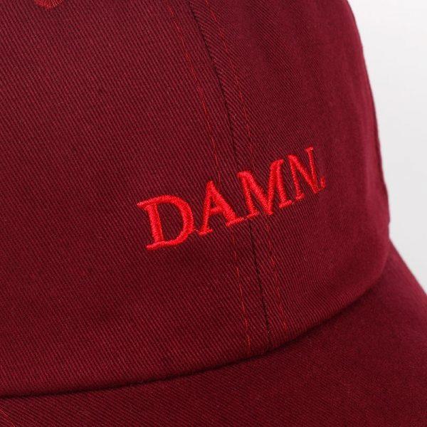 new wine red kendrick lamar damn cap embroidery DAMN. unstructured dad hat bone women men the rapper baseball cap 10