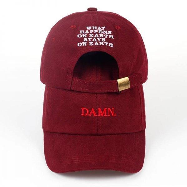 new wine red kendrick lamar damn cap embroidery DAMN. unstructured dad hat bone women men the rapper baseball cap 2