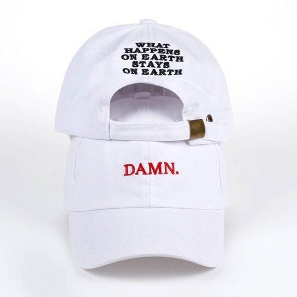 new wine red kendrick lamar damn cap embroidery DAMN. unstructured dad hat bone women men the rapper baseball cap 14