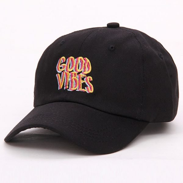 Good Vibes Dad Hat Embroidered Baseball Cap Curved Bill 100% Cotton Casquette Brand Bone Fashion Hats 4