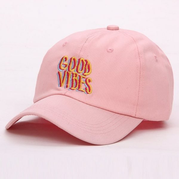 Good Vibes Dad Hat Embroidered Baseball Cap Curved Bill 100% Cotton Casquette Brand Bone Fashion Hats 8