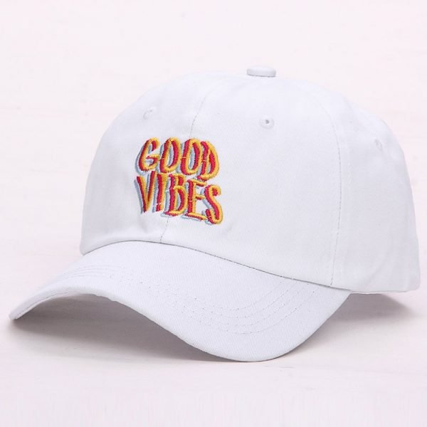 Good Vibes Dad Hat Embroidered Baseball Cap Curved Bill 100% Cotton Casquette Brand Bone Fashion Hats 10