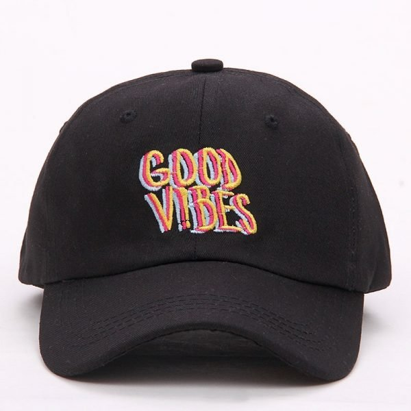 Good Vibes Dad Hat Embroidered Baseball Cap Curved Bill 100% Cotton Casquette Brand Bone Fashion Hats 2