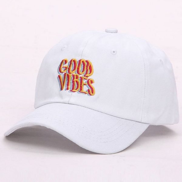 Good Vibes Dad Hat Embroidered Baseball Cap Curved Bill 100% Cotton Casquette Brand Bone Fashion Hats 14