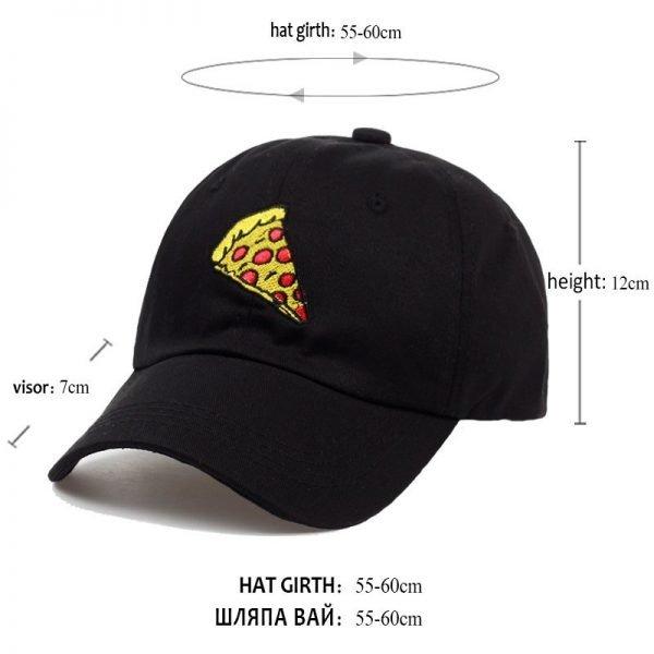 new pizza embroidery Baseball Cap Trucker Hat For Women Men Unisex Adjustable Size dad cap hats 12
