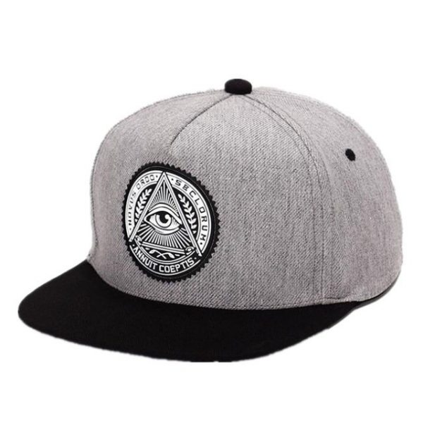 Fashion Round Label Triangle Eye Illuminati Snapback Caps Women Adjustable Baseball Cap Snapbacks Hip Hop Hats 2