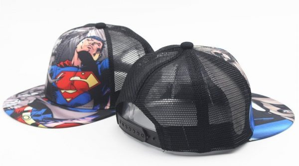 New Kids Baseball Caps Fashion Superman Batman Children Snapback Caps Gorras Planas Boys Hip Hop Hat Mesh Summer Hats 2318 4