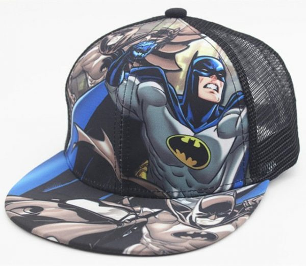 New Kids Baseball Caps Fashion Superman Batman Children Snapback Caps Gorras Planas Boys Hip Hop Hat Mesh Summer Hats 2318 16