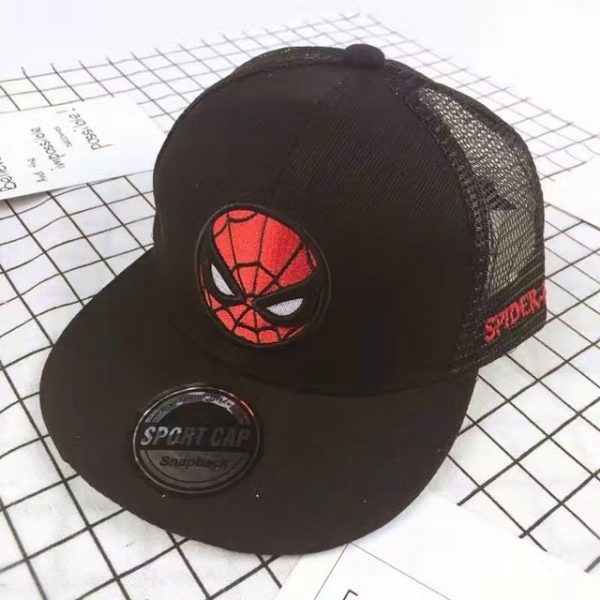 New Kids Baseball Caps Fashion Superman Batman Children Snapback Caps Gorras Planas Boys Hip Hop Hat Mesh Summer Hats 2318 46