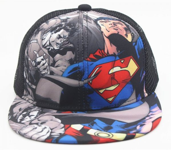 New Kids Baseball Caps Fashion Superman Batman Children Snapback Caps Gorras Planas Boys Hip Hop Hat Mesh Summer Hats 2318 6