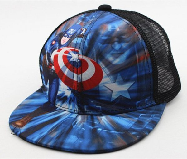 New Kids Baseball Caps Fashion Superman Batman Children Snapback Caps Gorras Planas Boys Hip Hop Hat Mesh Summer Hats 2318 18