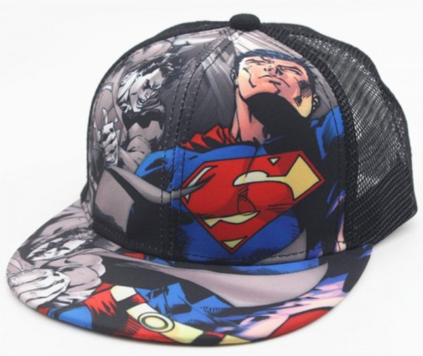 New Kids Baseball Caps Fashion Superman Batman Children Snapback Caps Gorras Planas Boys Hip Hop Hat Mesh Summer Hats 2318 8
