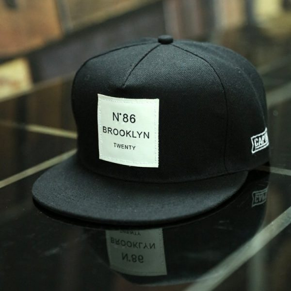 BROOKLYN Letters Solid Color Patch Baseball Cap Hip Hop Caps Leather Sun Hat Snapback Hats 4
