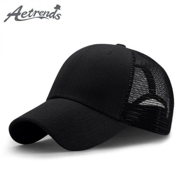 New Summer Sport Mesh Baseball Caps Men or Women Outdoor Snapback Bone Breathable Hats Z-6273 2
