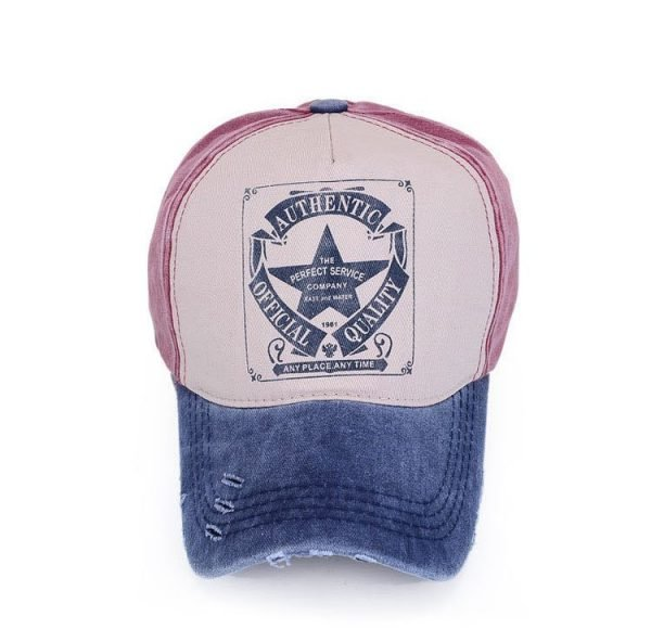 [AETRENDS] 6 Colors ! Star Patchwork Baseball Cap Men or Women Polo Hats Z-1462 4