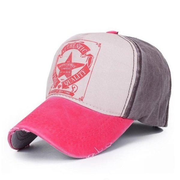 [AETRENDS] 6 Colors ! Star Patchwork Baseball Cap Men or Women Polo Hats Z-1462 16
