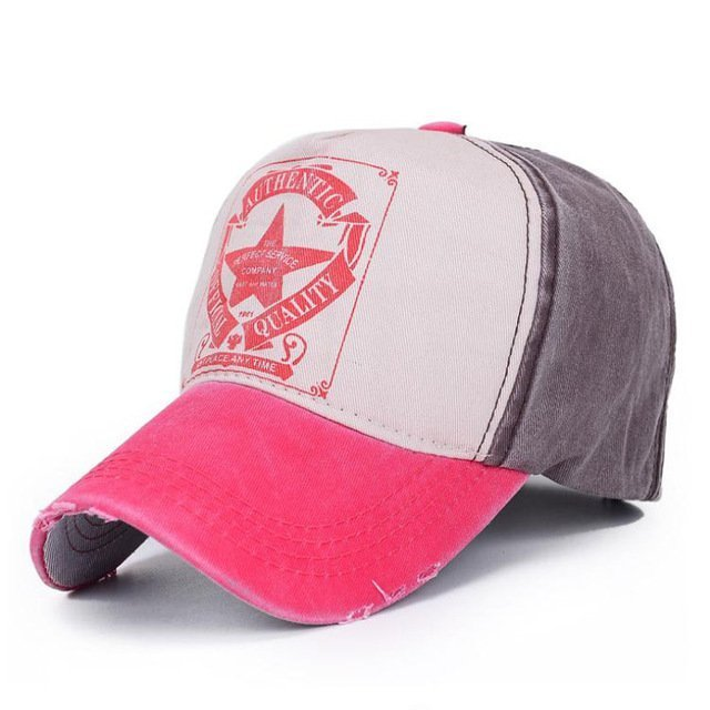 [AETRENDS] 6 Colors ! Star Patchwork Baseball Cap Men or Women Polo Hats Z-1462 15