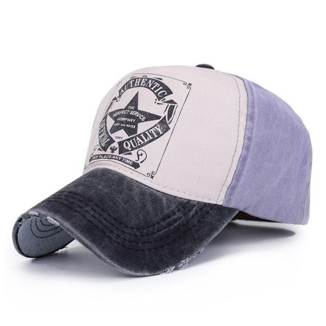 [AETRENDS] 6 Colors ! Star Patchwork Baseball Cap Men or Women Polo Hats Z-1462 17