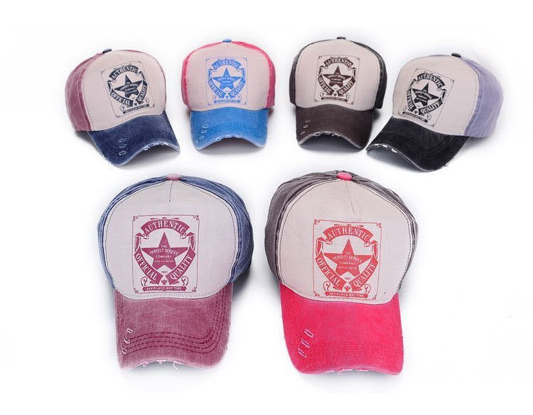 [AETRENDS] 6 Colors ! Star Patchwork Baseball Cap Men or Women Polo Hats Z-1462 7